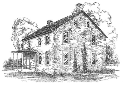 Nicholas Stoltzfus House Drawing